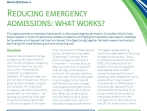 Reducing emergency admissions: what works?